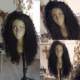 $enCountryForm.capitalKeyWord Canada - 8A Stock Long Kinky Curly Lace Front Human Hair Wig Virgin Brazilian Remy Hair Full Lace Wigs Bleached Knots For Black Women
