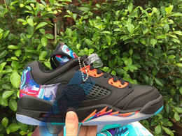 Satin Chinese Box Canada - WITH BOX 5 V Kite China LOW CNY Chinese New Year BLACK basketball shoes men women 5s sneakers size 5.5-12
