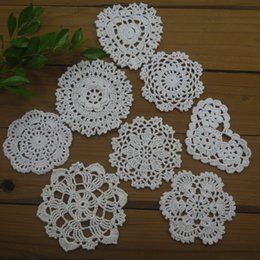 $enCountryForm.capitalKeyWord Australia - 16 Piece -8 design-- Per design 2 PCS - 8-11cm Vintage Hand Crochet Doilies Coasters table mat Table Napkin Home Wedding