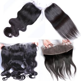 Olika spetsstorlek inom allt mänskligt hårtextur 4by4, 13by4 schweizisk stängning kan färgas all färg liten knut