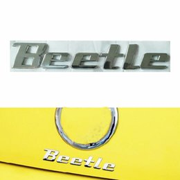 Vw Volkswagen Car Badge Emblems NZ - 3D Chrome Metal Beetle Sticker Emblem Badge Logo Decal for Volkswagen VW Beetle TDI TSI Rear Trunk Auto Car Styling Accessories