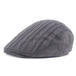 $enCountryForm.capitalKeyWord Australia - Men Irish Knitted Wool Duckbill Flat Cap Newsboy Gatsby Driver Caps Winter Fall Warm Strip Hat