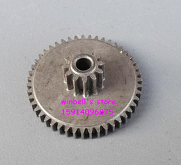 spur gears Australia - Metal gears 12teeth 0.6modulus +47teeth 0.5modulus bore diameter 3MM double gears variable reduction gears