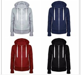 Wholesale high quality Winter Hoodies zipper sweater for women coat long sleeve plus velvet sweater jacket Fashion punch Casual Tracksuit loose Tops