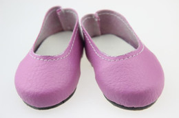 leather doll shoes Canada - Fashion 18Inch Girl Doll Shose Infant Girls Pu Leather Baby Doll Shose Toddler Soft Sole Shoes Fit For Any 18 inch