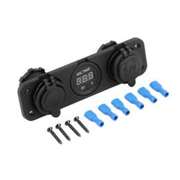 12v lighter socket adapter online shopping - Car Cigarette Lighter V Dual Socket USB Adapter A Charger Digital Voltmeter Voltage Display