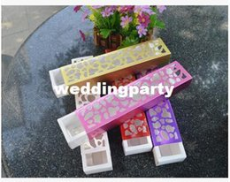 luxury chocolate gifts Canada - Free Shipping Colorful Luxury hollow candy box container chocolate packaging For Wedding Party Favor gifts