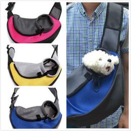 Cat Dog Carrier Bag Canada - Pet Carrier Carrying Cat Dog Puppy Small Animal Sling Front Carrier Mesh Comfort Travel Tote Shoulder Bag Pet Backpack SL