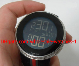 Discount swiss rubber - Wholesale - Luxury Diamond Limited Mens Watch Swiss Movement Electronic Rubber Bands Stainless Men's Watches