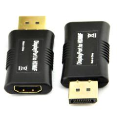 Apple Laptop Mini UK - 1PCS 1080P HD Mini DP Male To HDMI Female Adapter Cable Converter For HP DELL Apple iMac Black