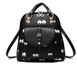 a4450463c74d Backpack bag 2017 new tide female shoulder bag new student fashion print  cartoon cute backpack Ladies Women Leather Trendy girl backpack