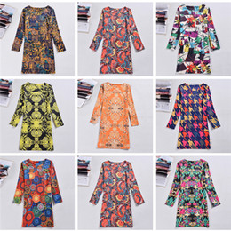 $enCountryForm.capitalKeyWord Australia - Plus Size Women Clothing Spring Fashion Flower Print Women Dress Ladies Long Sleeve Casual Autumn Dresses Vestidos DHL 170930