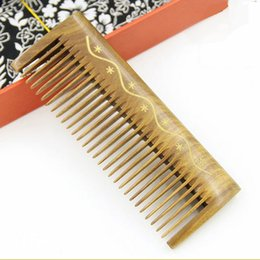Travel Hair Canada - Hair Comb Wooden Comb Pocket Travel Hair Brush Handmade Hair Care Styling Tool Massage Anti Static Hairloss Men Women Home Travel Carry Comb