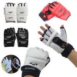 $enCountryForm.capitalKeyWord NZ - New Half Finger Fight Boxing Gloves Mitts Sanda Karate Sandbag Tkd Protector For Boxeo Mma Muay Thai Kick Boxing Training