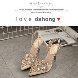 Mid Heels Wedding Shoes Canada - 2016 Rhinestone Crystal Women Shoes High Heel Sexy Mid Heel Ladies Shoes Pumps Fashion Ladies Shoes