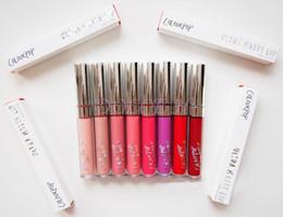 Discount colourpop ultra matte lipsticks - Wholesale Latest Arrival 12PCS ColourPop Ultra Matte velvety Liquid Lipstick Matte liquid Lipgloss Waterproof Retail pac