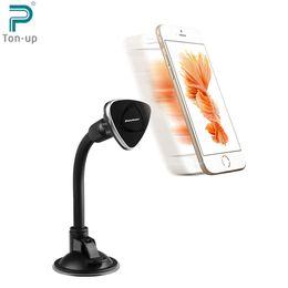Support de bâti de pare-brise magnétique de voiture d'Excelvan se tiennent librement courbé 360 degrés Roation pour l'iPhone 6 / 5s / 5 / 5c Samsung Galaxy HTC LG