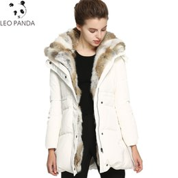 Barato Mulheres Para Baixo Casaco De Vison-Mulheres White Duck Down Jacket 2017 Inverno Solid Color Down jaqueta Lady Hooded Coat Warm Mink Collar Zipper Button Parkas LYL223
