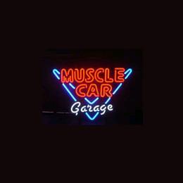 $enCountryForm.capitalKeyWord NZ - MUSCLE CAR GARAGE Real Glass Neon Light Sign Home Beer Bar Pub Recreation Room Game Room Windows Garage Wall Sign