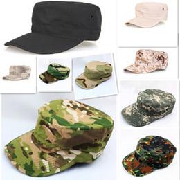 cbba9d7baa940 Tactical coach security guard caps Hunting training Hiking hat Summer  camping Camouflage Tactical hat Fishing bionic sun-shadingcadet cap