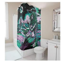 $enCountryForm.capitalKeyWord UK - Customs 36 48 60 66 72 80 (W) x 72 (H) Inch Shower Curtain Mermaid Monster Waterproof Polyester Fabric Diy Shower Curtain