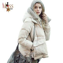 Bat Clothing Canada - Wholesale-Good quality! 2016 winter fashion Bat Sleeved women's 90% down jacket coat Ladies Down coat loose clothing
