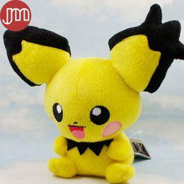 Banpresto Figures NZ - New Banpresto Pichu Pikachu Doll Spiky-eared Stuffed Animal Figure 19cm Anime Baby Dolls Kids Toys with Tag