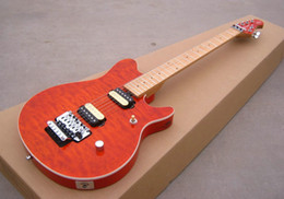 New Electric Guitar Brands Australia - New brand electric guitar with orange quilt body top !
