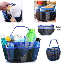 4 Colors 8 Pocket Shower Caddy Oxford Bathroom Hanging Storage Bag Home  Makeup Organizer Holder Hosekeeping Accessories CCA7720 50pcs