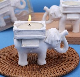 Discount white elephant gifts - Lucky Elephant Candles Holder Tea Light Candles Holder Wedding Birthday gifts with tealight