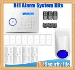 Gsm Pstn Dual Alarm NZ - Hot selling Chuango B11 Dual network PSTN and GSM burglar Security Alarm System P367kit