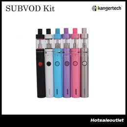Discount authentic kangertech subvod starter kit Authentic Kangertech SUBVOD Starter Kit Nano S Tank 1.9ML with 1300mAh SUBVOD Battery The Newest Sub-ohm Vaping Kit