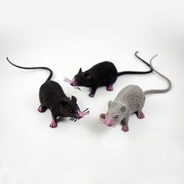 plastic mouse tricky toys scary horror props black gray simulation rat halloween party decorative gift za4373 scary halloween decorations props for sale