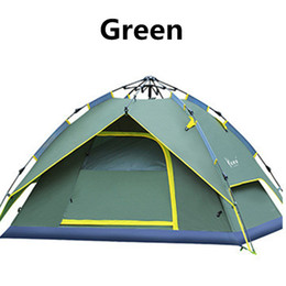 waterproof tent shelter Australia - 2016Hydraulic Automatic Tent Camping Shelters Waterproof Sunny Tent Quick Automatic Opening Double-deck Protective Outdoors Tents 3-4 Person