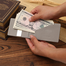 Magic wallets online shopping - Ultra Thin PU Leather Magic Credit Card ID Holder Money Clip Wallet