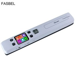 Discount high speed scanners - Wholesale- High Speed Portable Scanner A4 Size Document Scanner 1050DPI JPG PDF Support 32G TF Card Mini Scanner Pen wit