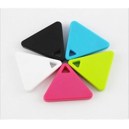 gps locator for cell phones UK - Triangle Anti-lost Sensor Alarm Mini Wireless Smart GPS Locator Bluetooth Tracker Finder itag for Kids Pets Bag Wallet Key 10pcs