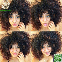 $enCountryForm.capitalKeyWord Canada - Afro Kinky Curly Short Brazilian Human Hair Full Lace Wig Glueless Lace Front Wig Jerry Curl With Baby Hair