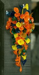 $enCountryForm.capitalKeyWord Australia - Elegant Handmade Blown Glass Wall Lamps Flower Designer Home Decorative Fascination Glass Wall Sconce LED Bulbs Wall Hanging Lamps