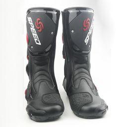 Vendita calda stivali da moto da uomo Scarpe da motocross da corsa Speed boot Moto Botas Probiker da equitazione Stivali da motociclista Spedizione gratuita in Offerta
