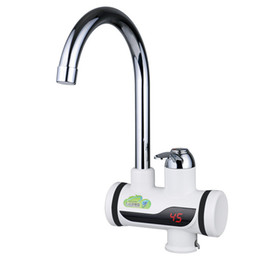 Water heaters tap online shopping - BD3000W Digital Display Instant Hot Water Tap Tankless Electric Faucet Kitchen Faucet Water Heater