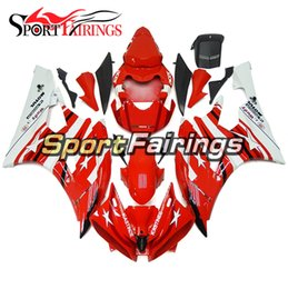 yamaha covers UK - Full Injection Fairings For Yamaha YZF600 YZF R6 06 07 2006 - 2007 ABS Motorbike Hulls Full Covers Kit Bodywork Cowling Red White NEW