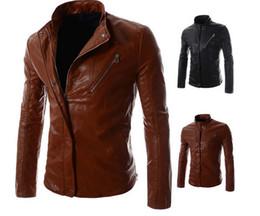 Faux motorcycle jacket online shopping - Winter Mens Locomotive Jacket Brand PU Leather Hooded Jacket Men Motorcycle Overcoat Large Size Men leather jackets
