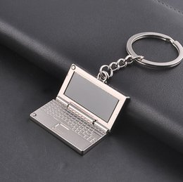 Wholesalers Video Game Accessories Canada - Toy Chain for Key Chain Key Ring High Quality Delicate Laptop Model Keychain for Women Men Metal Holder Jewelry Accessories