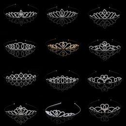 $enCountryForm.capitalKeyWord Canada - Stunning Princess Wedding Bridal Flower Girls Crystal Rhinestone Headband Tiara Hair Band Kid Girl Birthday Party Hair Accessories