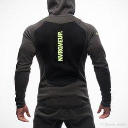 Cardigan men wear online shopping - New Mens Bodybuilding Hoodies Gym Workout Shirts Hooded Sport Suits Tracksuit Men Chandal Hombre Gorilla wear Animal
