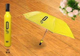 $enCountryForm.capitalKeyWord Canada - Free Shipping hot sale Portable Creative Fashion Three Folding Wine Bottle Sun rain Umbrella Gift WA0685