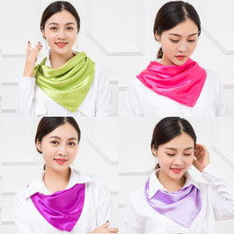 flight scarf UK - Scarves 13 color square scarf for women flight attendant women professional dress commercial performance Christmas gift