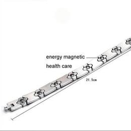 health care magnet 2019 - 2016 New Jewelry Man Tennis Bracelets Stainless Steel Energy Balance Magnet Stone Health Care Bracelet For Men CZ Diamon