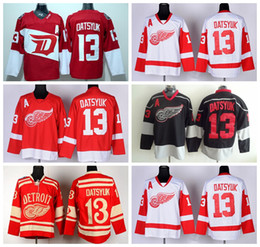 Detroit Red Wings 13 maillots de hockey Pavel Datsyuk Hockey Stade Series Hiver Classique Hiver Datsyuk Maillot Red Wings Équipe Couleur Rouge Blanc Blac Ice